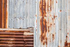 Rusty Corrugated Metal Sheet Background/ Texture Royalty Free Stock Photography