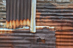 Rusty Corrugated Metal Sheets Royalty Free Stock Photo