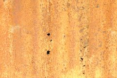 Rusty corrugated metal texture Royalty Free Stock Photos