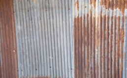 Free Rusty Corrugated Metal Tin, Aluminium, Iron, Steel Plates With Beautiful Color Show Vertical Line Texture With Fringe And Royalty Free Stock Photos - 192272128