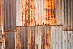 Rusty corrugated metal wall stock photography