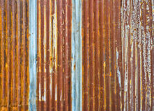 Rusty corrugated metal wall Stock Image