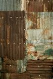 Rusty Corrugated Metal Wall Grunge Background Texture Royalty Free Stock Photos