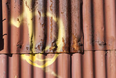 Rusty corrugated metal wall Royalty Free Stock Photo