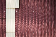 Rusty corrugated metal wall Royalty Free Stock Photos