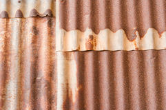 Rusty corrugated metal wall. Texture background Stock Images