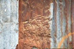 Rusty corrugated metal wall Stock Photos