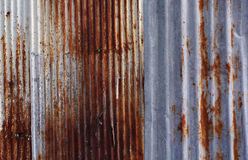 Rusty corrugated metal wall texture background. Stock Photography