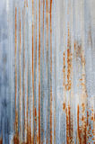 Rusty corrugated metal wall. And textures Stock Photography