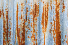 Rusty corrugated metal wall. And textures Royalty Free Stock Photography