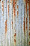 Rusty corrugated metal wall Stock Image