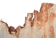 Rusty corrugated metal Royalty Free Stock Image