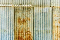 Rusty Corrugated Panels Stock Photo