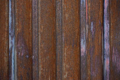 Rusty corrugated sheets Stock Photos