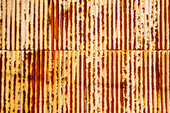 Rusty corrugated texture Stock Photos