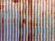 Rusty Corrugated Zinc Plate Royaltyfria Foton