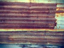 Rusty Corrugated Zinc Plate Texture-Hintergrund Lizenzfreie Stockfotografie