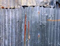 Rusty Corrugated Zinc Sheet Wall Photographie stock libre de droits