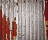 Rusty corrugated zinc Royalty Free Stock Images