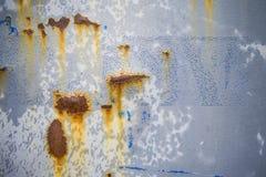 Rusty cracked metal door Royalty Free Stock Photography