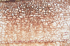 Rusty cracked paint background Royalty Free Stock Photography