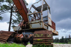Rusty crane stock photos