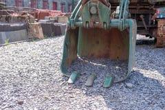 Rusty crane digger bucket Royalty Free Stock Photos