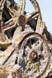 Rusty crane in the Salton sea Stock Photo
