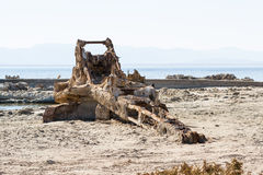 Rusty crane in the Salton sea Stock Photography