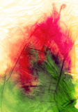 Rusty creased colour. Vibrant soaked tissue paper Royalty Free Stock Photography