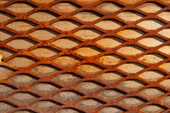 Rusty crisscross diamond background wood board Stock Photography