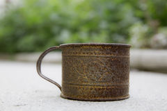 Rusty cup Royalty Free Stock Photography