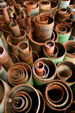 Rusty cylinder pipe Stock Images