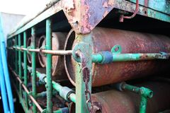 Rusty cylinders Royalty Free Stock Photo