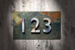 123 rusty. 3d rendering of  rusty 123 numbers Royalty Free Stock Photo