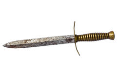 Rusty dagger on white Royalty Free Stock Photography