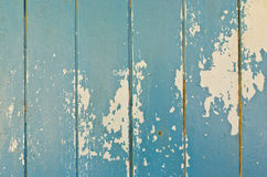 Rusty damage blue hardwood door for background Royalty Free Stock Photography