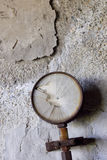 Rusty and damaged manometer. An old rusty and damaged manometer Royalty Free Stock Photography