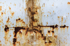 Rusty and damaged metal background Stock Photography