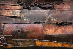 Rusty damaged metal steel background Stock Photography