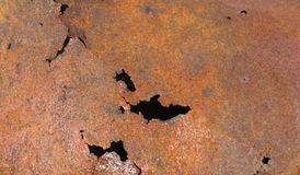 Rusty damaged surface Royalty Free Stock Photos