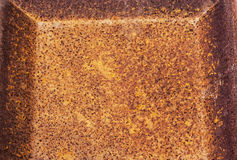 Rusty Decayed Patterns and Textures on Rusted Metal Surface Royalty Free Stock Photo