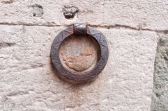 Rusty decorated ring Royalty Free Stock Photo