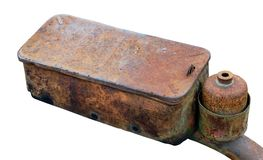 Rusty defective part from a diesel tractor Royalty Free Stock Photo