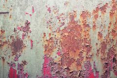 Rusty Dented Wall foto de archivo
