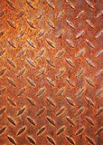 Rusty diamond metal plate Stock Image