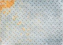 Rusty diamond metal texture. Texture of old rusty diamond metal Stock Photography