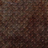 Rusty Diamond Plate Royalty Free Stock Image