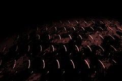Rusty diamond plate on black shadow Stock Images