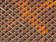 Rusty diamond plate Royalty Free Stock Photos